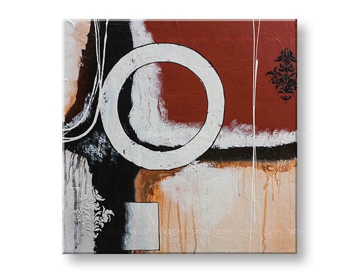 >Black Friday 50%< Tablouri pictate DeLUXE ABSTRACT 70x70 cm YOB129D1/24h