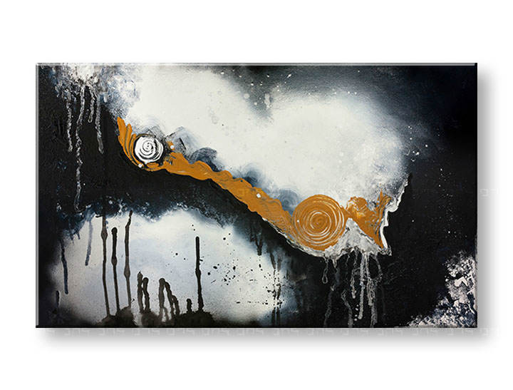 >Black Friday 70%< Tablouri pictate DeLUXE ABSTRACT 60x100 cm YOB131D1/24h