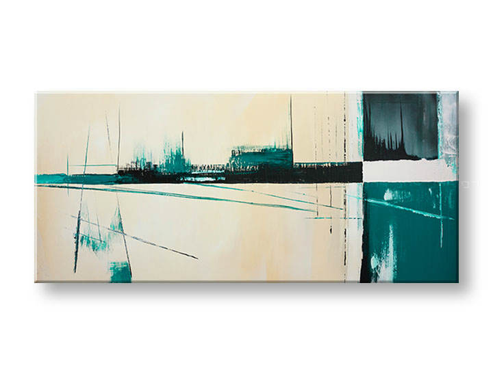 >Black Friday 50%< Tablouri pictate DeLUXE ABSTRACT 50x110 cm YOB134D1/24h