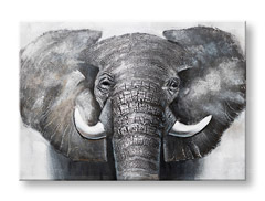 Tablouri pictate manual ELEFANT 1-piesa CWFAN021 - 100x70 cm