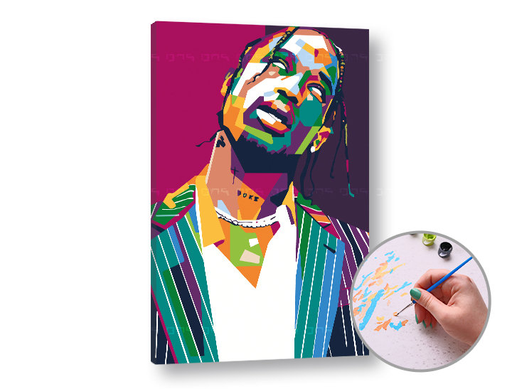 Pictura după numere TRAVIS SCOTT - Level Starter 60x40 cm