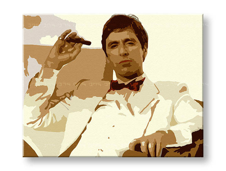 Tablou pictat manual Pop Art - Reducere 25 % AL PACINO 80x100 cm al35/24h