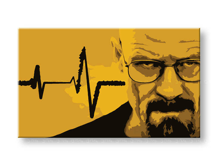 Tablou pictat manual POP Art BREAKING BAD 1-piese