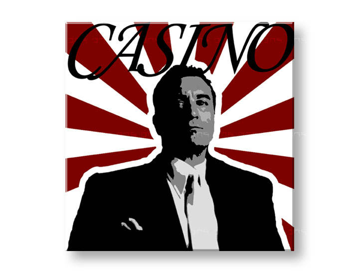 Tablou pictat manual POP Art CASINO 1-piese 100x100cm