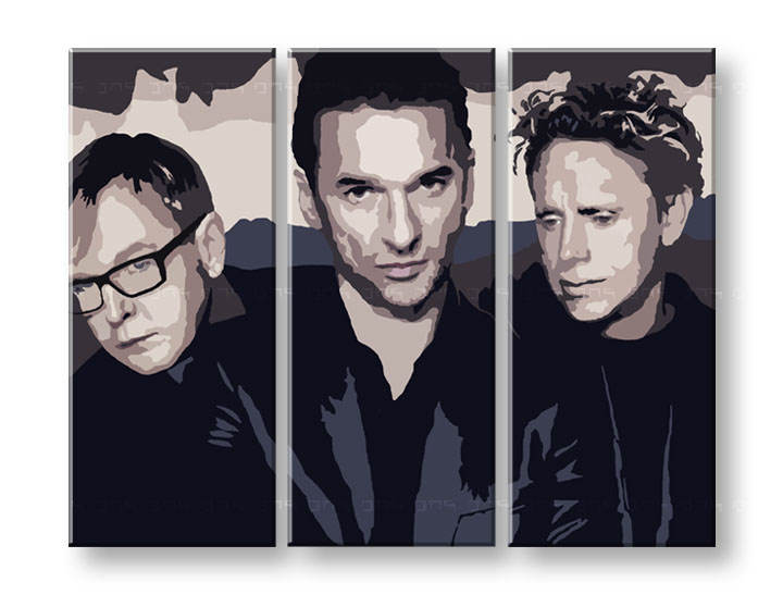 Tablou pictat manual Pop Art - Reducere 25 % Depeche Mode 120x80 cm YOBPPdep5/24h