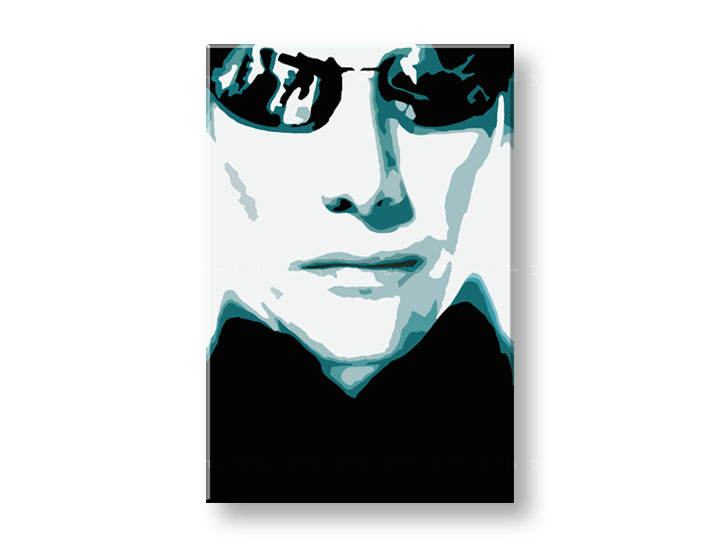 Tablou pictat manual POP Art MATRIX 1-piese 60x90cm