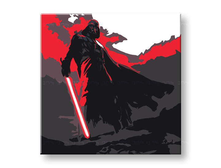 Tablou pictat manual Pop Art - Reducere 25 % STAR WARS 50x50 cm YOBPPsw6/24h