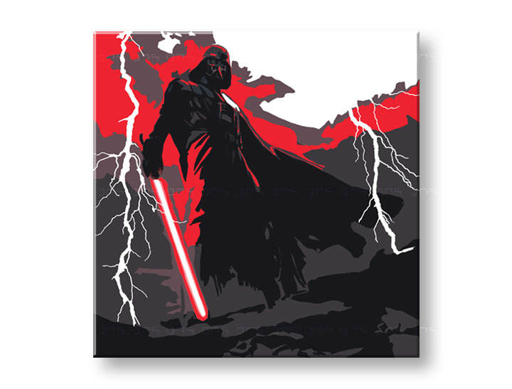 Tablou pictat manual Pop Art - Reducere 25 % STAR WARS 100x100 cm YOBPPsw7/24h