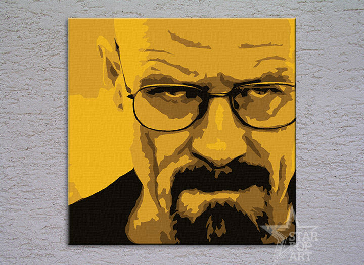 Tablou pictat manual POP Art Breaking Bad 4-piese 100x100cm