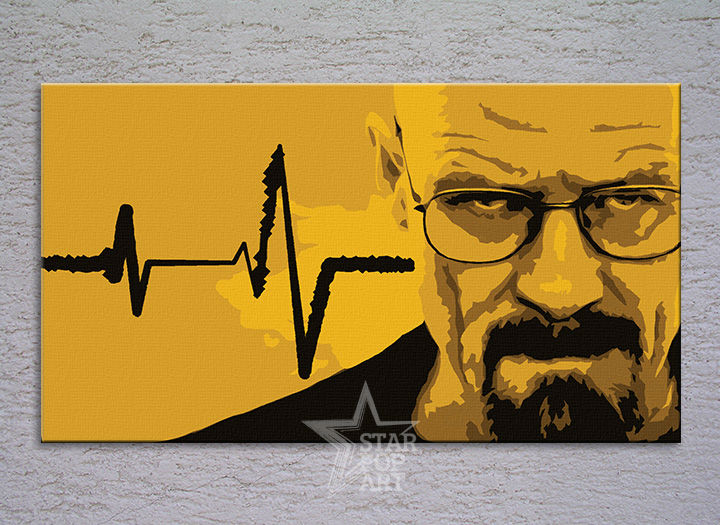 Tablou pictat manual POP Art BREAKING BAD 1-piese 120x70cm