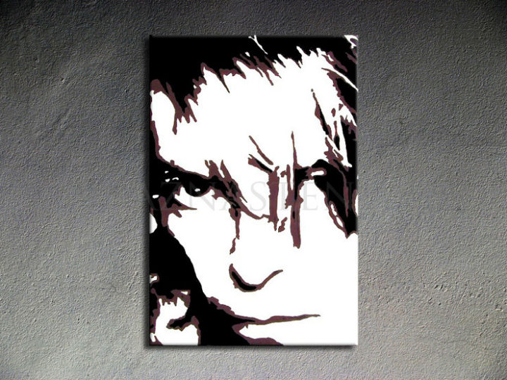Tablou pictat manual POP Art David Bowie 1-piese 70x100cm