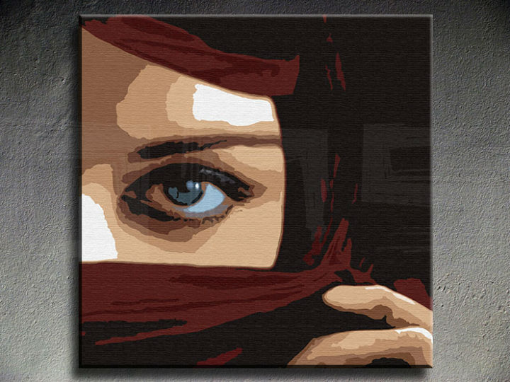 Tablou pictat manual POP Art Eye 1-piese 100x100cm