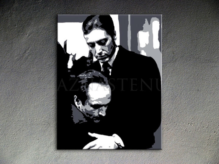 Tablou pictat manual POP Art Godfather 1-piese 80x100cm