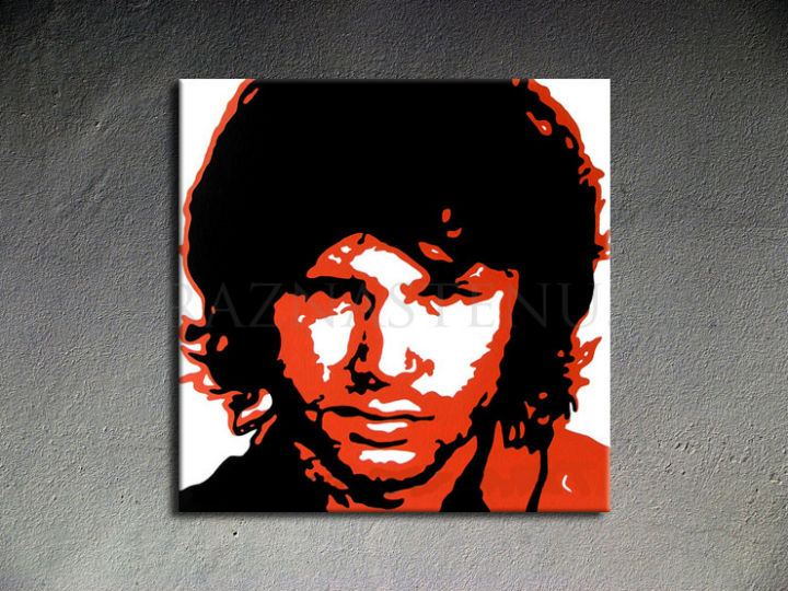 Tablou pictat manual POP Art Jim Morrison 1-piese 100x100cm