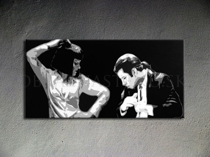 Tablou pictat manual POP Art Pulp Fiction 1-piese 100x50cm