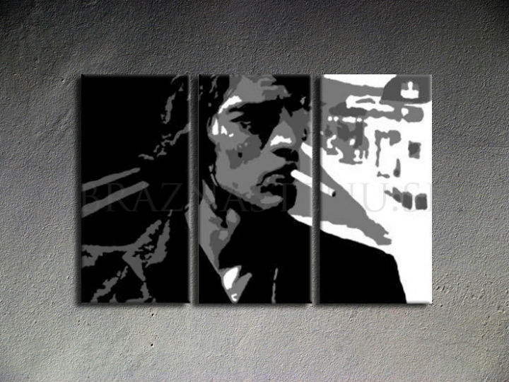 Tablou pictat manual POP Art Richard Ashcroft 3-piese 120x80cm