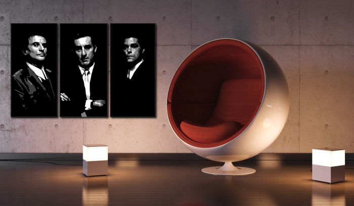 Tablou pictat manual POP Art Goodfellas 3-piese 120x80cm