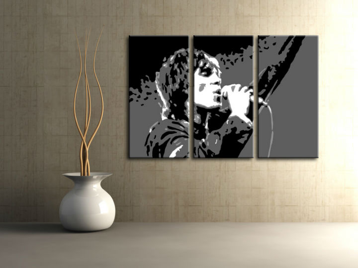 Tablou pictat manual POP Art Ian Brown 3-piese 120x80cm