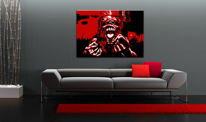 Tablou pictat manual POP Art Iron Maiden 1-piese 100x70cm