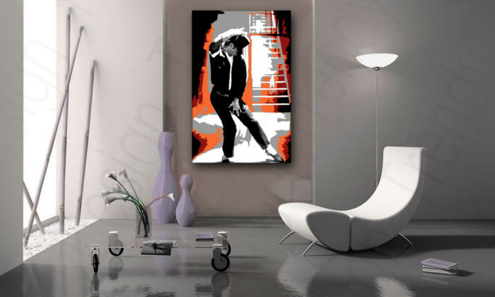 Tablou pictat manual POP Art Michael Jackson 1-piese 60x90cm