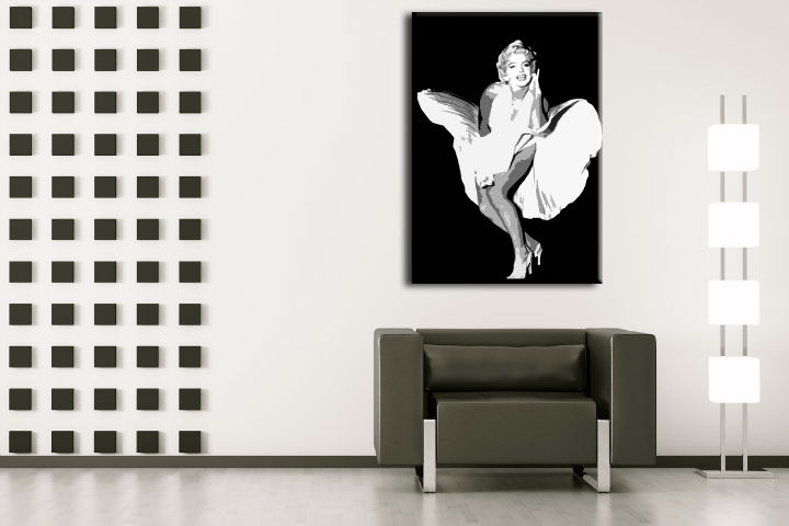 Tablou pictat manual POP Art Marilyn Monroe 1-piese 70x100cm