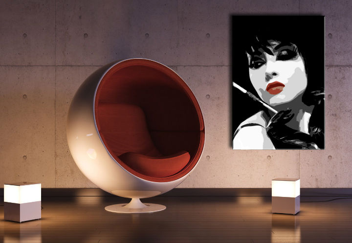 Tablou pictat manual POP Art Pop woman 1-piese 70x100cm