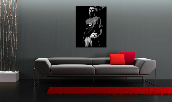 Tablou pictat manual POP Art Paul Scholes 1-piese 70x100cm