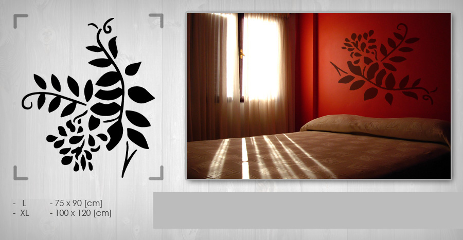>Black Friday 60%< Stickere de perete FLORI 100x120 cm NAK006/24h – galben închis