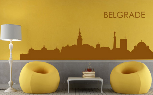 Stickere BELGRADE NAME043