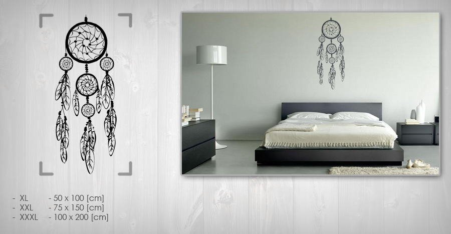 Stickere de perete DREAM CATCHER 50x100 cm NALS002 - negru