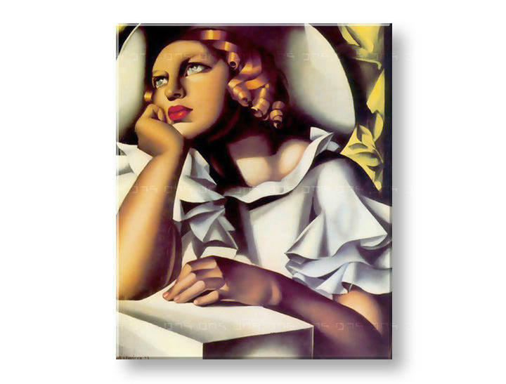 Tablouri GIRL IN A HAT - Tamara de Lempicka