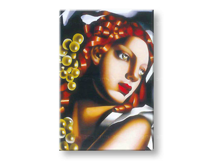 Tablouri WOMAN WITH Verde EYES  – Tamara de Lempicka