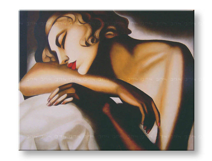 Tablouri GIRL SLEEPING – Tamara de Lempicka