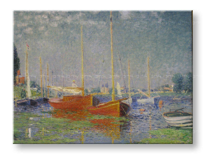 Tablouri RED BOATS AT ARGENTEUIL – Claude Monet