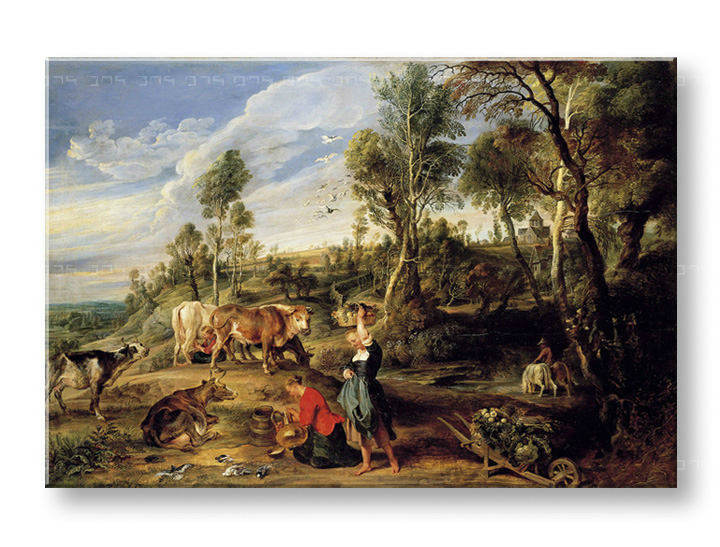 Tablouri MILKMAIDS WITH CATTLE IN A LANDCAPE – Peter Paul Rubens