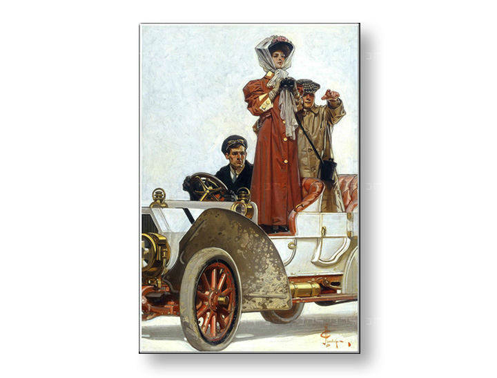 Tablouri LADY AND MOTORCAR – J.C. Leyendecker