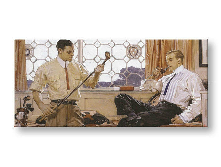 Tablouri GENTLEMAN WITH GOLF CLUBS – J.C. Leyendecker