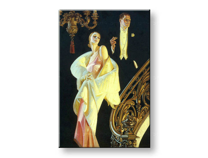 Tablouri COUPLE DESCENDING STAIRCASE – J.C. Leyendecker