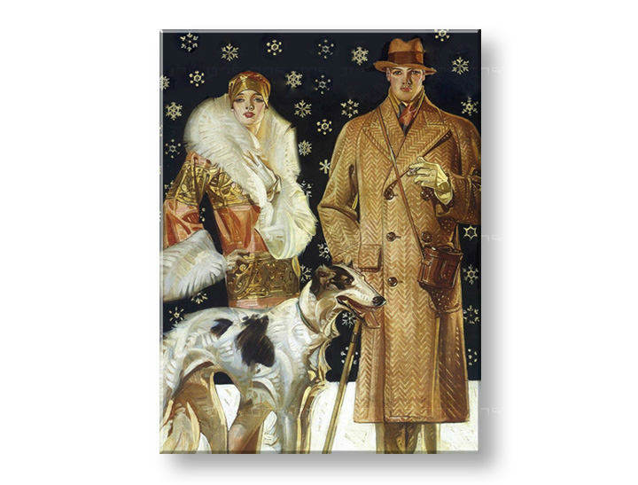 Tablouri A STROLL IN A SNOW – J.C. Leyendecker