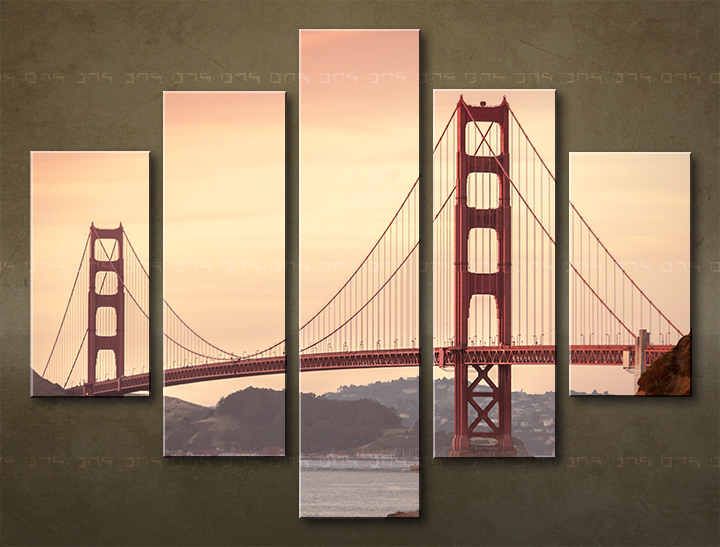 Tablouri canvas HD 5 piese ORAȘ / SAN FRANCISCO ME116O5