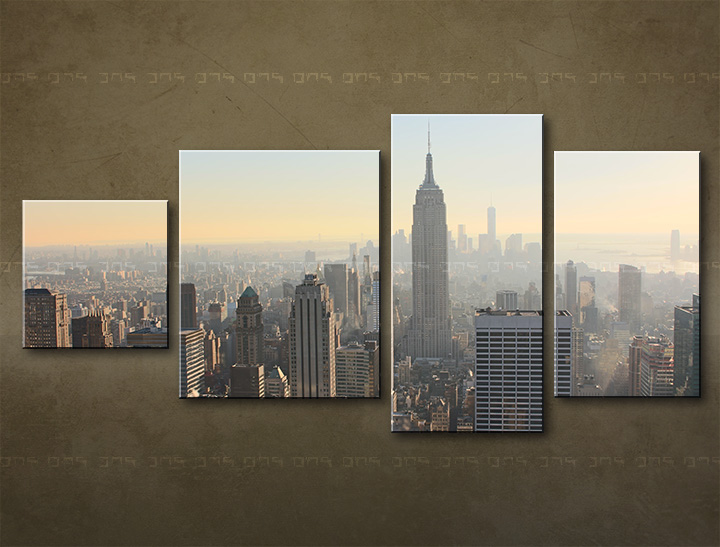 Tablouri canvas HD 4 piese ORAȘ / NEW YORK ME117M4