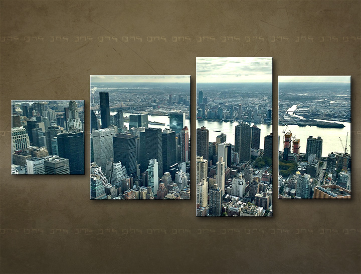 Tablouri canvas HD 4 piese ORAȘ / NEW YORK ME118M4