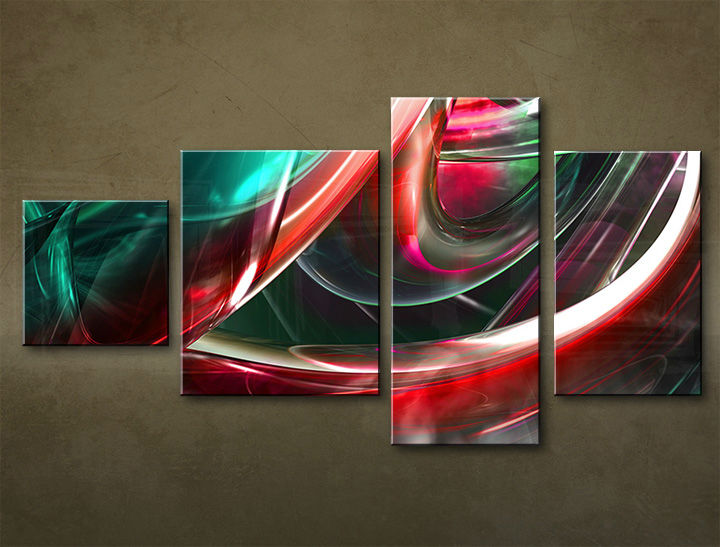 HD Tablouriri 4-piese ABSTRACT AB029M4