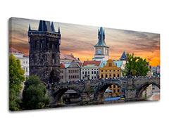 Tablouri canvas ORAȘE Panorama - PRAGA CZ004E13