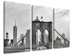 Tablouri canvas 3-piese ORAȘE - NEW YORK ME114E30