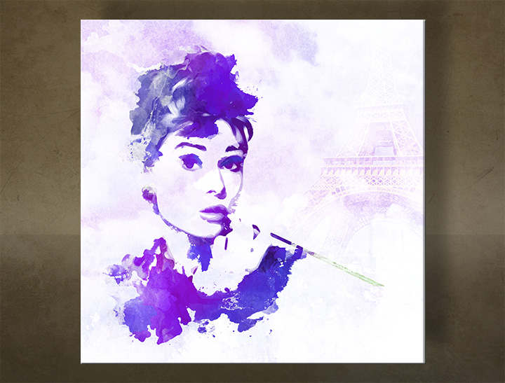 Tablouri canvas Audrey Hepburn - AQUArt / Tom Loris 003AA1
