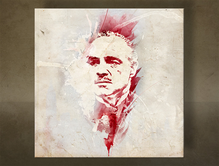 Tablouri canvas Godfather Marlon Brando - AQUArt / Tom Loris 006AA1