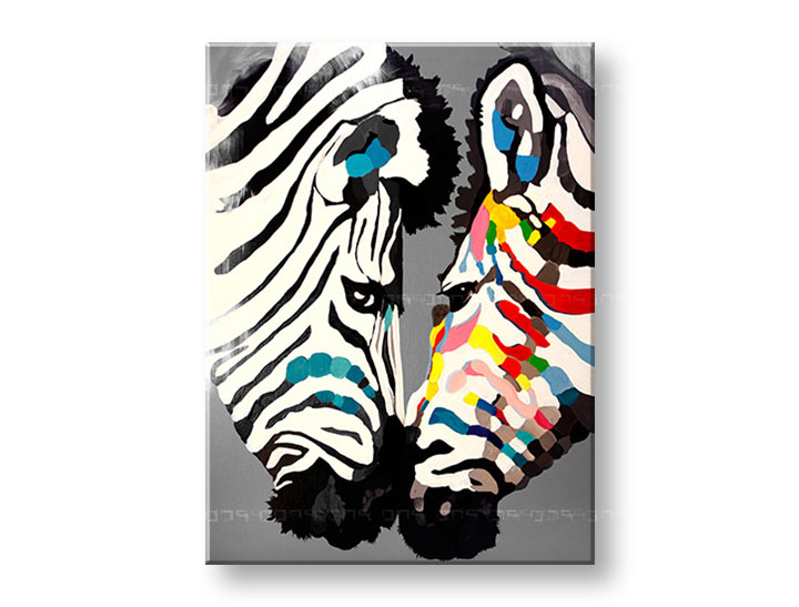 Tablouri canvas pictate manual 1 piesă ZEBRE DA017E1
