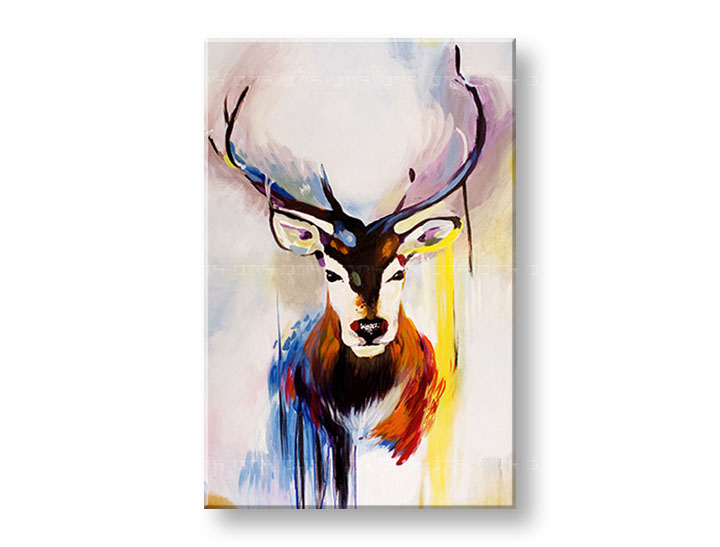 Tablouri canvas pictate manual 1 piesă DEER DA019E1