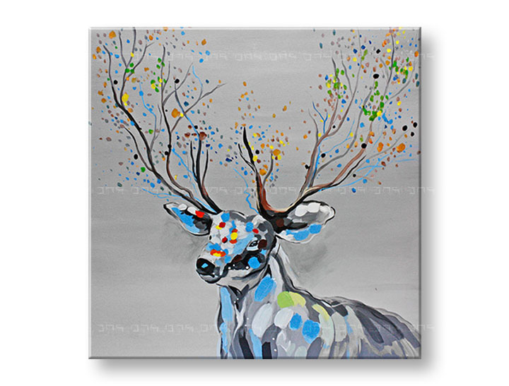 Tablouri canvas pictate manual 1 piesă DEER DA027E1